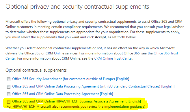 Hipaa Regulated And Use Office365 Get Your Baa From Microsoft