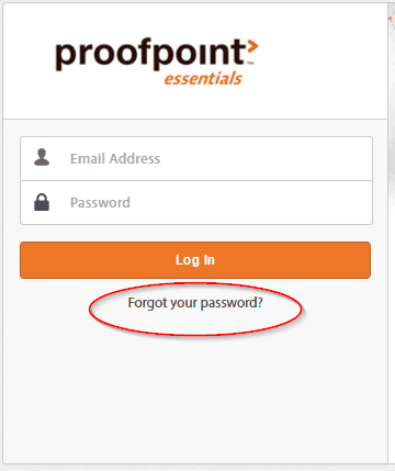 Click on the Forgot Password Link