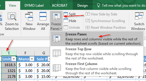Tech Tip: Freezing Rows and Columns in Excel | Weston Technology